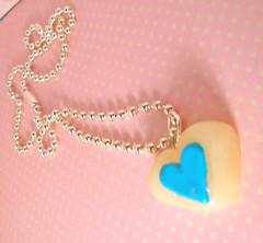 Blue Heart Candy (acrylicana) Tags: cute fun diy candy sweet handmade kitsch jewelry charm clay kawaii indie sweeties accessories polymer acrylicana