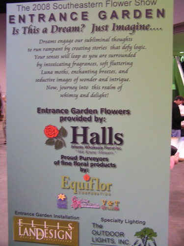 Halls entrance garden sign