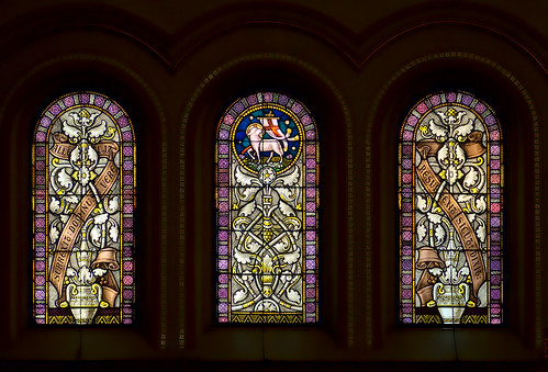 Saint Peter Roman Catholic Church, in Saint Charles, Missouri, USA - stained glass windows