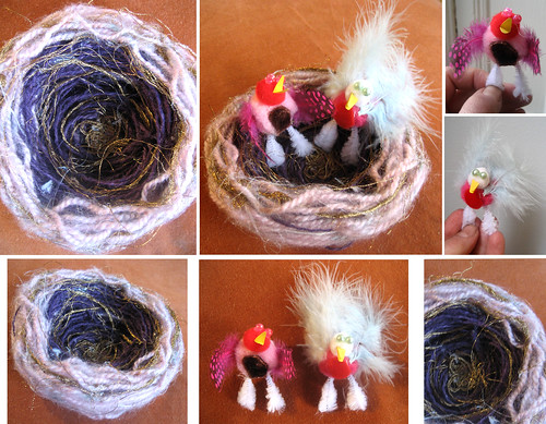 Lovebirds of a feather- Love nest- craftvdaycontest