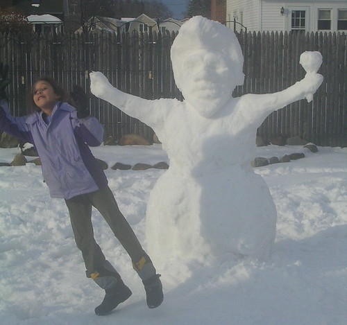 bea and snowman