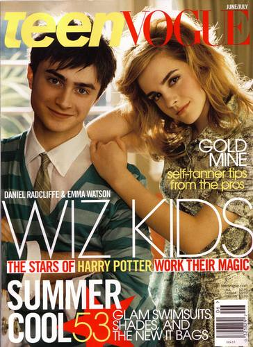 emma watson with daniel on cover