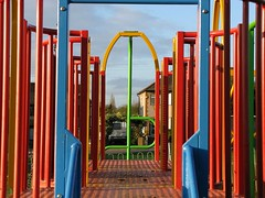 Playing with Colours ( Bo ) Tags: red colour green playground yellow metal children bllue colorphotoaward colourartaward canong9