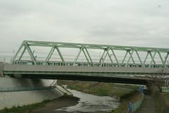 鶴見川を渡るグリーンライン