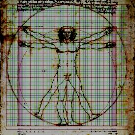 El Hombre de  Vitruvio (por Leonardo da Vinci )