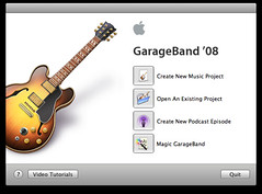 Create new music project in Garageband