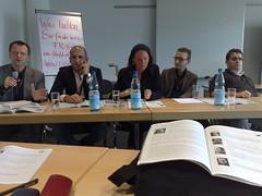 """Podium im Workshop """"Wie verändert das Web 2.0 die Gesellschaft"""""""
