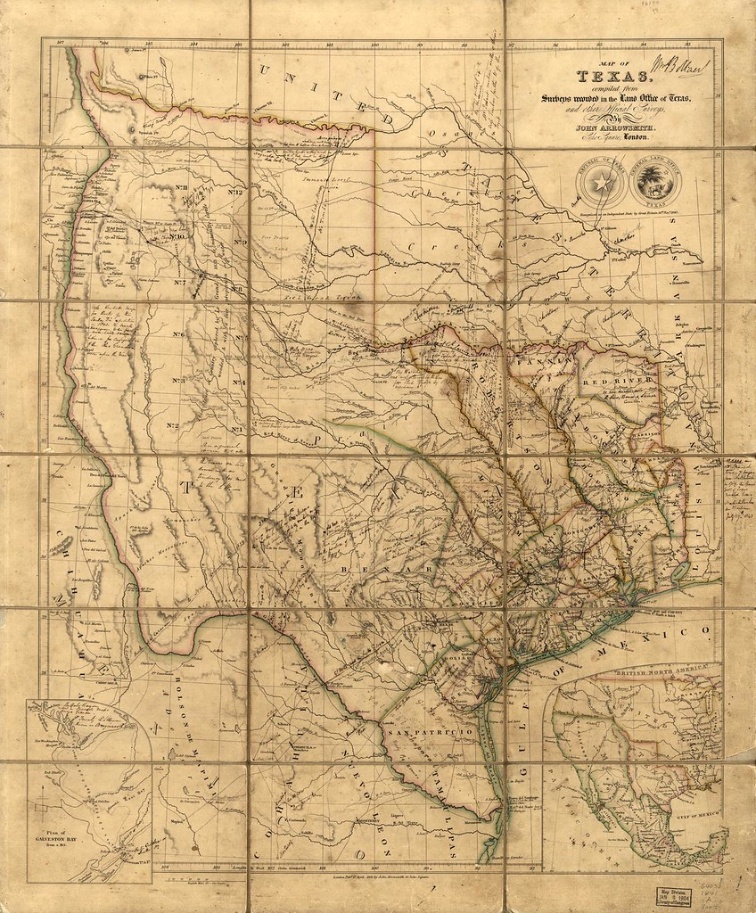 Republic of Texas :: Historic Map circa 1845