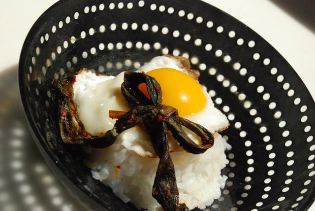 ramp kimchi over rice
