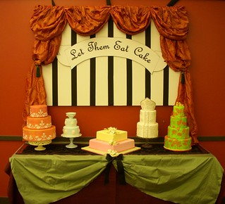 My cake display table