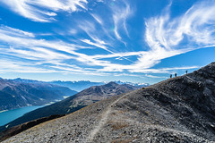 Cutting Edge Walk (*Capture the Moment*) Tags: 2016 autumn berge farbdominanz felsen herbst hiking hikingtourpizlad2808m himmel italien italy landschaften menschen mountains path people pfad pizlad rocks sky sonya7m2 sonya7mii sonya7mark2 sonya7ii sonyfe2470mmf4zaoss sonyilce7m2 valvenosta vinschgau wanderung blau blue