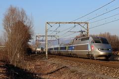 TGV A en Savoie (Maxime Espinoza) Tags: tgv atlentique 331 300 sncf train grande vitesse chambéry bourg saint maurice supplémentaire