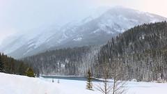 Lake Minnewanka, Banff (Keith Roper) Tags: banff snow mountains rockymountains lakeminnewanka frozen lake