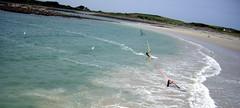 Ladies Bay Windsurfers (Ningaloo.) Tags: ladies sea kite beach water photography bay coast kevin pentax aerial windsurfing optio kap guernsey windsurfer kiteaerialphotography s10 lajoie ff8 flowform8 aeriali kevinlajoie