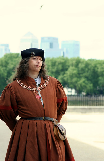 Tudor Gentleman with... Canary Wharf far behind!!