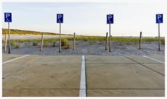 Quiet day in the Rue des Invalides (leo.roos) Tags: beach strand sony parking fisheye trafficsign westland handicapped parkeerplaats invalid verkeersbord zuidholland nex sgravenzande darosa nex5 invalidenparkeerplaats sonyfisheye1628 leoroos sonyfish