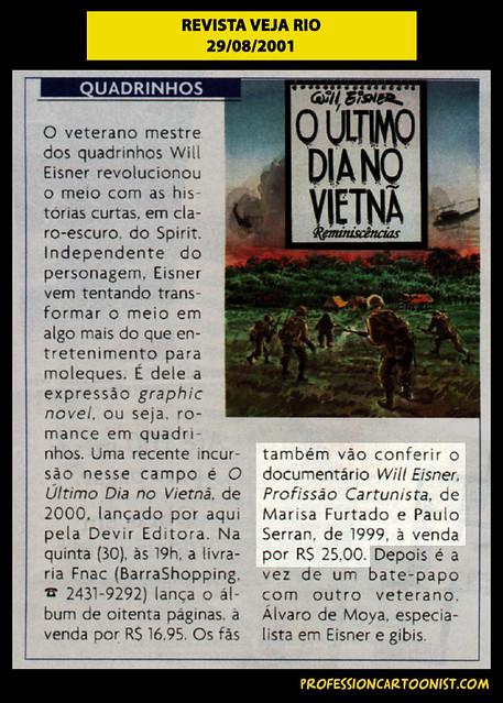 """""""O último dia no Vietnã"""" - Revista Veja Rio - 29/08/2001"""