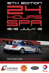 24 hours Spa (Tico09) Tags: poster mercedes belgium belgique belgie racing hours 24 total panning spa 18200 stavelot affiche francorchamps wallonie 450d