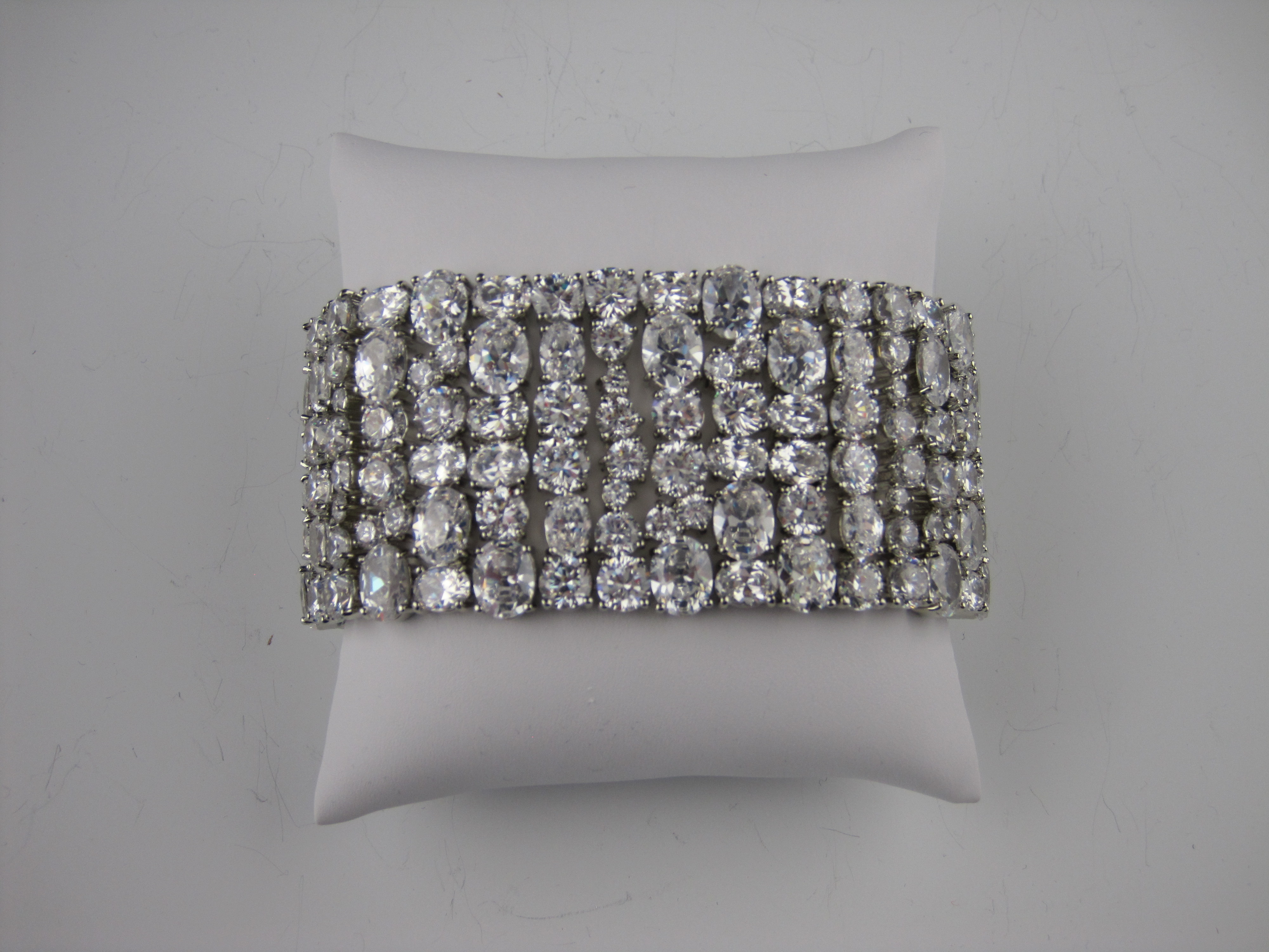 glam bridal cuff, bling bridal bracelet, new york bridal jewelry