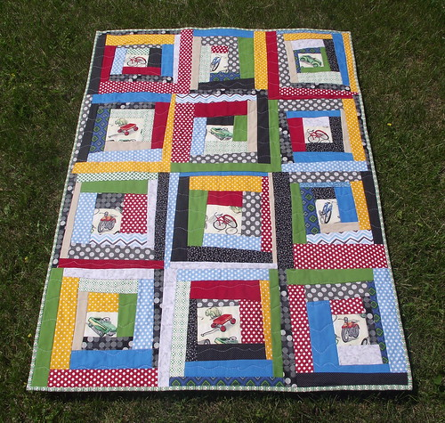 Wheels quilt front