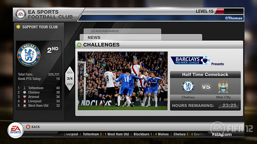 EA SPORTS Football Club: Challenges