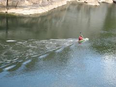 Kayaker on the Potomac