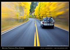 Driving Through Fall Color (jimgoldstein) Tags: california mountain fall highway driving fallcolor aspen sierranevada soe easternsierra abigfave jmggalleries platinumphoto anawesomeshot superaplus aplusphoto jimmgoldstein