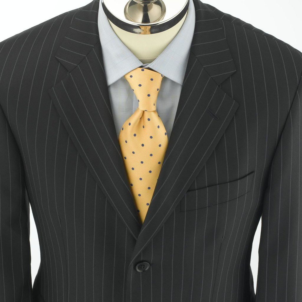 Navy Pinstripe English Suit Jacket