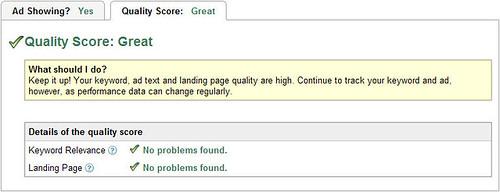 quality score on google adwords