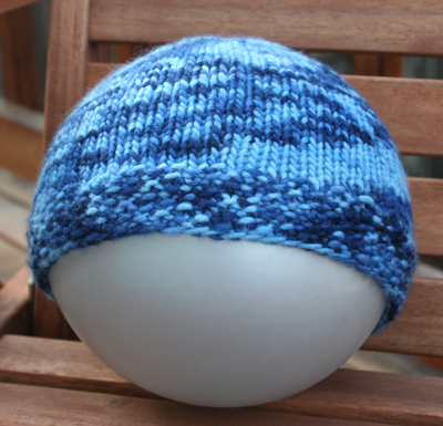 Blue hat for Jenny
