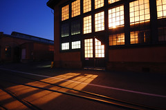 Museum Windows (Tyler Westcott) Tags: california longexposure night navy photographers vallejo taillights mareisland navalshipyard thenocturnes sfchronicle96hrs nikond40 nocturnes071027 navalmuseam