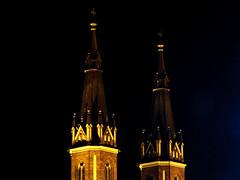 NMP Church (hutch84) Tags: street castle church nightshot poland polska lodz pabianice