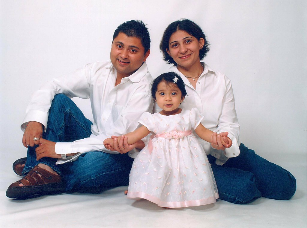 Ashna 1st Bday Family Portrait