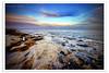 Colorful Sky at Anjefa Beach (Hussain Shah.) Tags: sunset sky beach clouds d50 nikon colorful sigma kuwait 1020mm hdr anjefa
