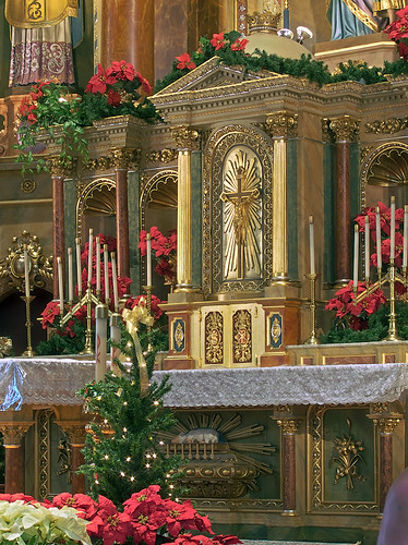 Saint Joseph Shrine, in Saint Louis, Missouri, USA - tabernacle, decorated for Christmas