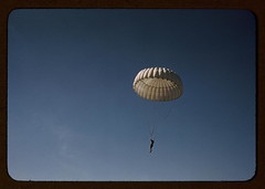 Marine parachuting at Parris Island, S.C.  (LOC) (The Library of Congress) Tags: sky usmc training 35mm vintage marine aviation military slidefilm falling 1940s transparency marines libraryofcongress marinecorps parachute transparencies geronimo unitedstatesmarinecorps usmarines paratrooper parachuter historicalphotographs xmlns:dc=httppurlorgdcelements11 dc:identifier=httphdllocgovlocpnpfsac1a35170 palmeralfredt paramarine airborneassault