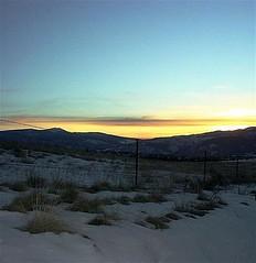 sunset over the Bitterroot Mountains near Missoula, Montana