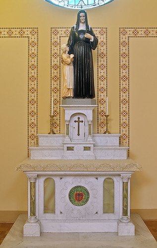 Saint Mary of the Barrens Roman Catholic Church, in Perryville, Missouri, USA - altar of Saint Louise de Marillac
