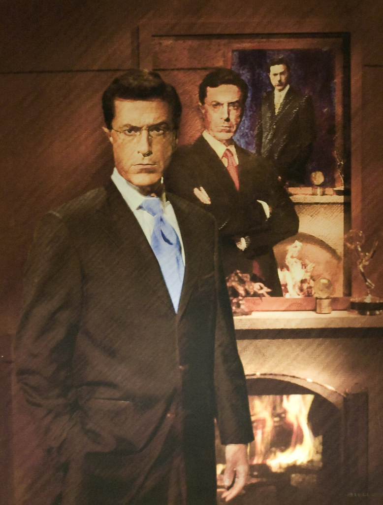 Stephen Colbert Portrait in National Portrait Gallery