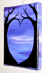 Purple Heart - small acrylic painting on canvas