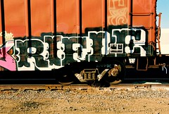 Rifle (All Seeing) Tags: art graffiti al rifle trains hof graffitiart freights paintedtrains railart monikers lagraffiti losangelesgraffiti highonfumes freightgraffiti boxcarart rifleone rifle1 riflehof rifleal