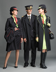 Air Portugal trio (baldpipeguy) Tags: red white detail green portugal hat fashion female scarf inflight belt shoes uniform boots tie cockpit skirt blouse jacket gloves purse crew badge airline trousers uniforms scarves cuff collar airlines insignia stewardess handbag purses portuguese pilot flightdeck necktie 2007 stewardesses flightattendants flightattendant overcoat cabincrew outerwear neckwear hatband airportugal epaulettes tapairportugal goldbraid stewardessuniform airlinefashion flightattendantuniform flightattendantuniforms cabincrewuniform manuelalvesandjosmanuelgonalves