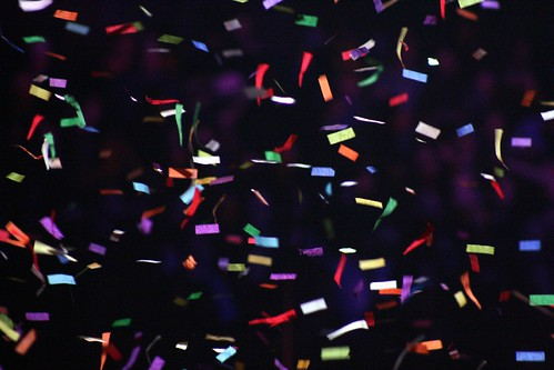 confetti shower