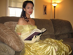 Belle the book worm (VictoriaCosplay) Tags: yellow book dress cosplay lola disney belle kh beautyandthebeast kingdomhearts disneyprincess kh2 yellowdress kingdomhearts2 yellowgown cosplaygirl victoriacosplay
