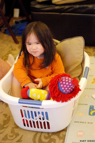 Laundry baskets are fun!