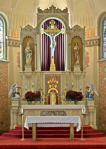 Saint Peter Roman Catholic Church, in Saint Charles, Missouri, USA - altar
