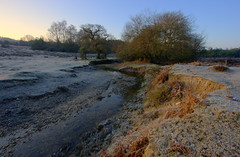 Howen Bottom - IV (Skink74) Tags: uk winter england cold 20d water sunrise landscape dawn stream frost hampshire brook meander icy newforest hdr eos20d canon1022f3545 3xp efs1022mmf3545usm fdrtools subtlehdr howenbottom greatbritishlandscape