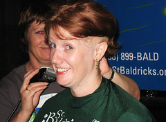 Oh, my... (Tanya in BNE) Tags: charity hk woman haircut me girl self hair buzz t hongkong tanya head cut vanity bald moi redhead shave hairless 2008 cancerresearch myformerlife stbaldricks april2008