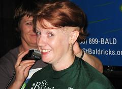 Oh, my... (Tanya in BNE) Tags: charity hk woman haircut me girl self hair buzz t hongkong tanya head cut vanity bald moi redhead shave hairless 2008 cancerresearch myformerlife stbaldricks april2008