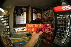 The end is near: I got this body from junkfood, San Antonio, Texas